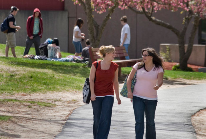 Students at Worcester State University
